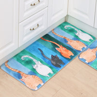 Water Color Cats Anti-Slip Floor Mats