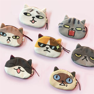 Cute Cat Emojis Coin/Key/Change Purse