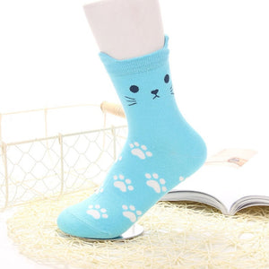 Cute Kitty Footprints Socks