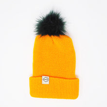 packer green and gold beanie with pom pom