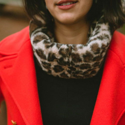 NEW! - The Leopard Faux Fur Ruff