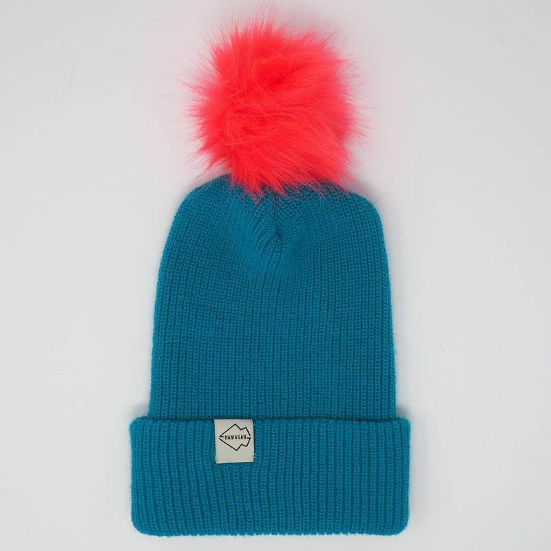 Teal + Watermelon Hat Combo pom pom