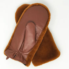 Leather + Faux Fur Driving Mittens