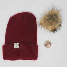 Burgundy + Natural Hat Combo
