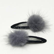 Fur Hair Clips - 10 Colors in Stock!