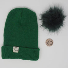 Green + Emerald Hat Combo pom pom