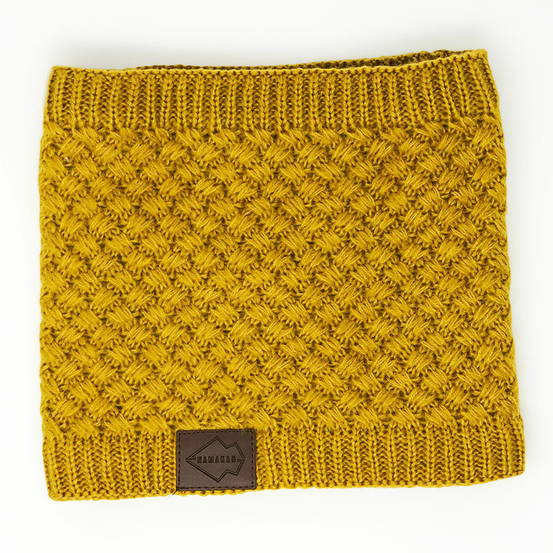 Mustard Fleece Lined Neck Warmer