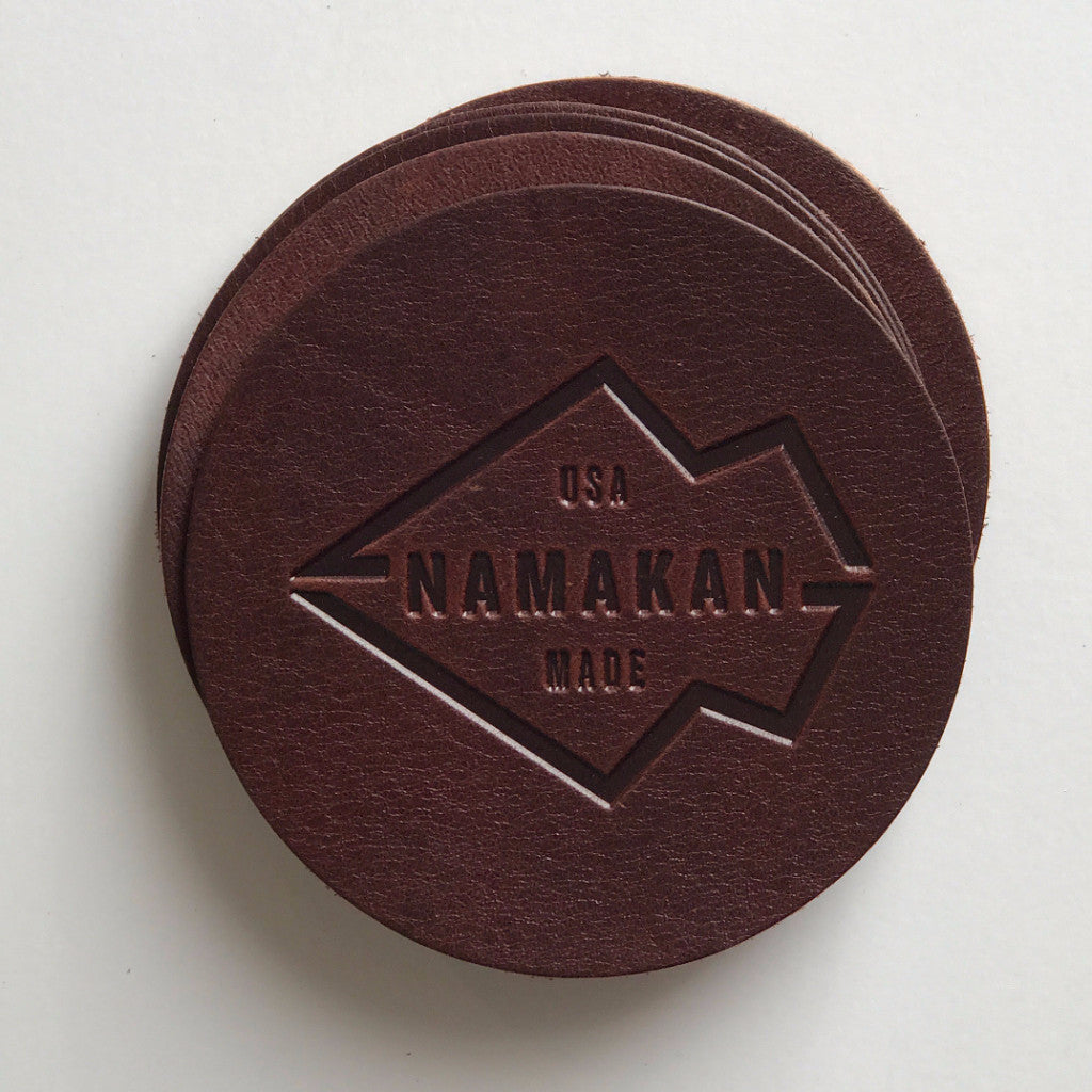 Namakan + MN Leather Works Coaster Set of 4