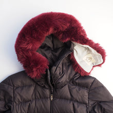 The Oxblood Ruff - Faux Fur Parka Maroon / Wine