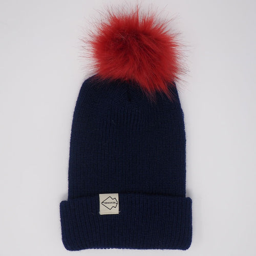 navy hat wine puff