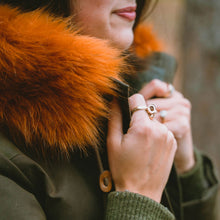 red fox faux fur trim for hood - namakan fur