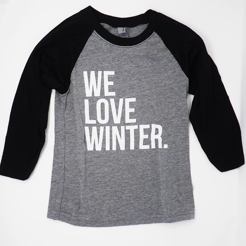 Kids We Love Winter Baseball Tee