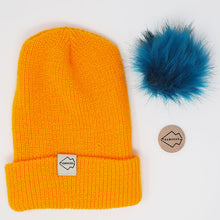 Yellow + Aqua Hat Combo pom pom