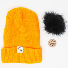 Gold + Black Hat Combo pom pom hat yellow