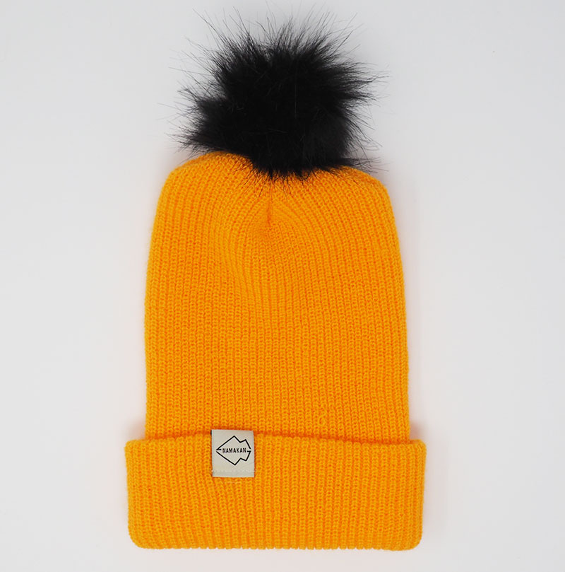 Gold + Black Hat Combo pom pom hat