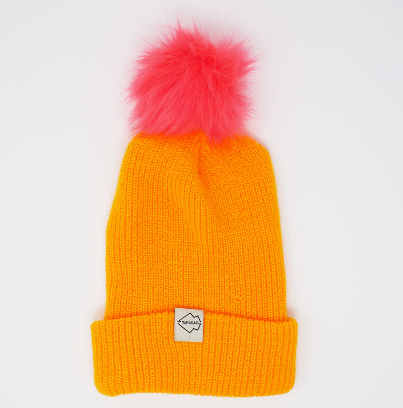 Yellow + Watermelon Hat Combo pom pom