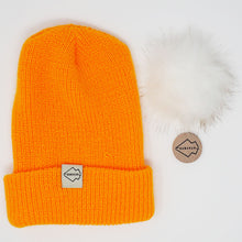 Yellow + White Hat Combo pom pom
