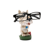 Something Cute Dog Figurine Glasses Holder