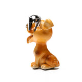 Something Pretty Dog Figurine Glasses Holder in Brown