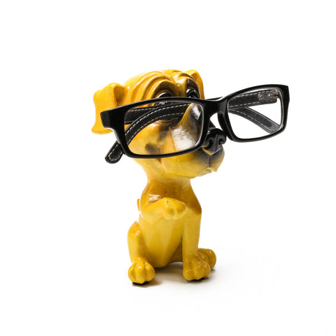Something Pretty Dog Figurine Glasses Holder in Yellow