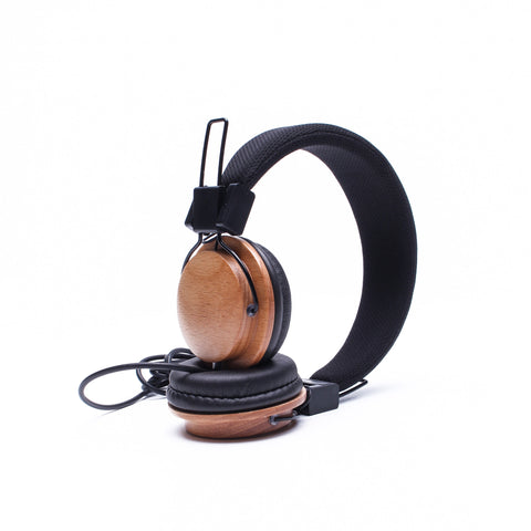 Boosted Acoustic Headphones in Beechwood