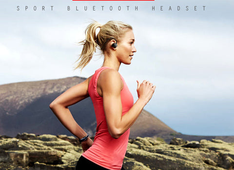 Sweatproof Bluetooth Workout Headpones in Black