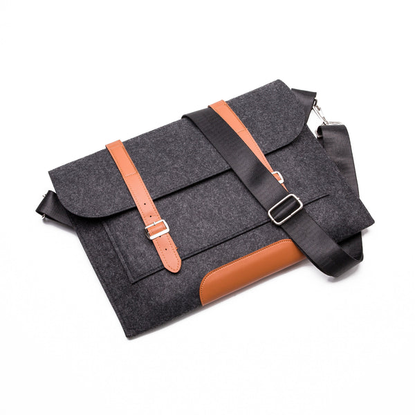 Slim Laptop Carrier in Dark Grey