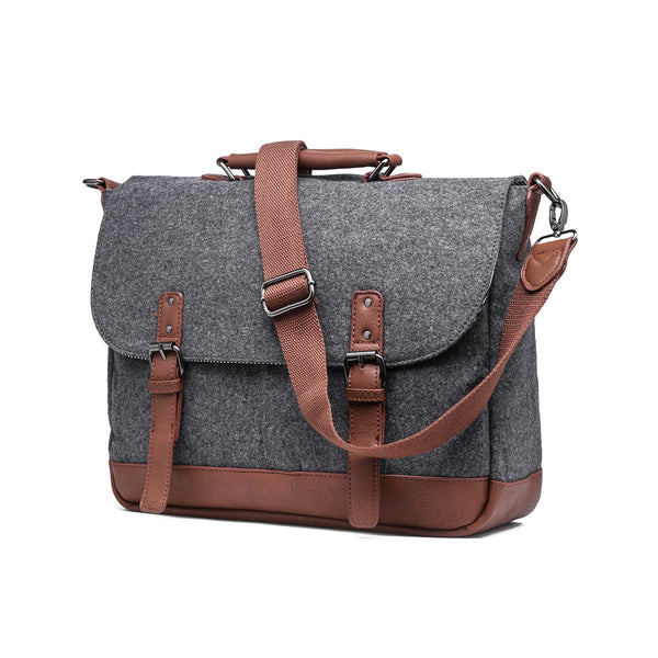 Something Wooly Dark Grey Messenger Bag