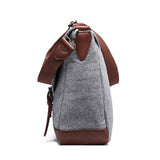 Something Wooly Light Grey Messenger Bag