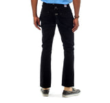 Pants With Detachable Suspenders in Black