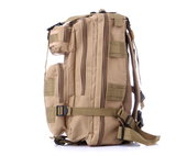 Beige tactical backpack