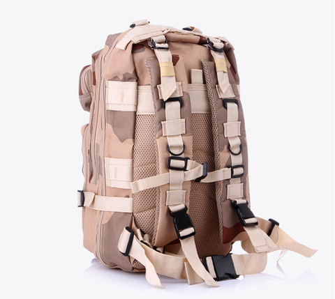 Something Tactical Military Style Nylon Backpack in Beige