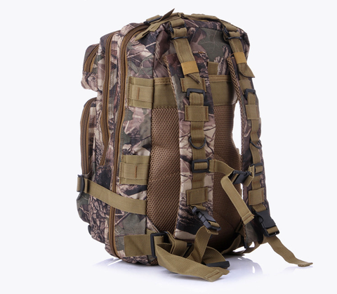 Something Tactical Military Style Backpack in Brown Camo