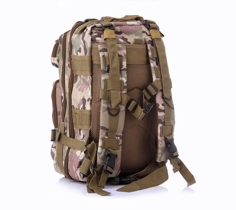 Something Tactical Military Style Nylon Backpack in Brown Camo