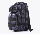 Something Tactical Military Style Backpack in Blue Camo