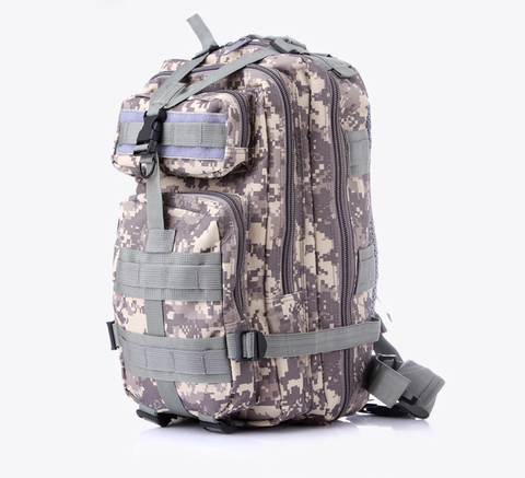 Something Tactical Military Style Nylon Backpack in Green Camo