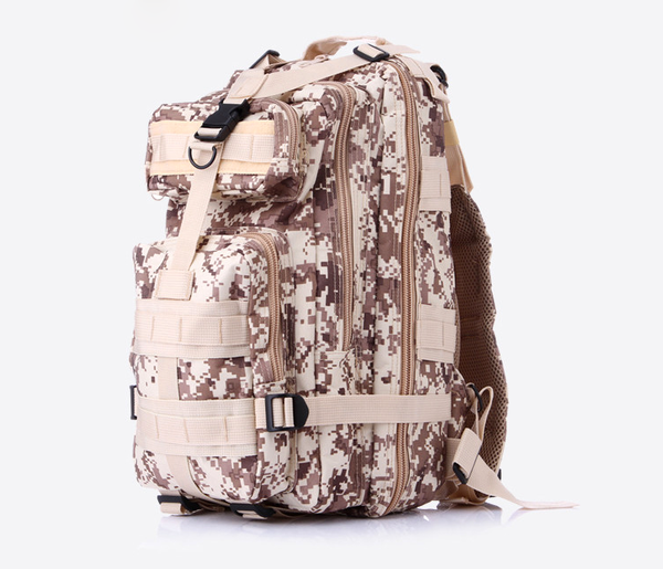 Something Tactical Military Style Backpack in Beige Camo