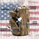 Fully Loaded Tactical Military Style Backpack in Beige