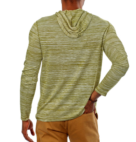 Something Superior Long Sleeve Pullover Hoodie in Green