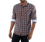 plaid layered shirt