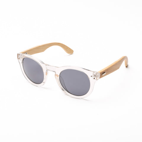 Something Wooden Round Sunglasses in White