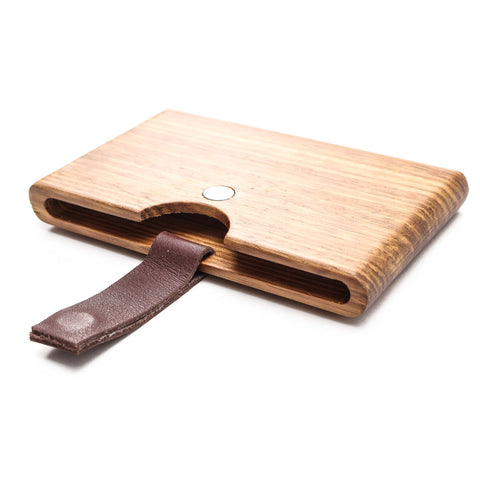 Zebra Wood Card Case with Lacquer