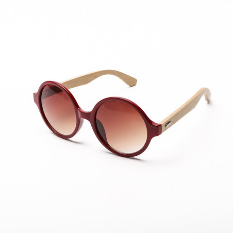 Something Wooden Round Sunglasses in Red