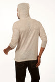 Something Superior Long Sleeve Pullover Hoodie in Light Grey