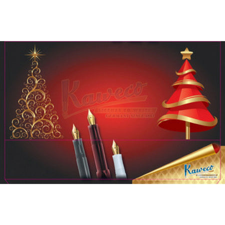 "Kaweco Tin Slipcase Cover - ""Christmas Tree"" - Short"