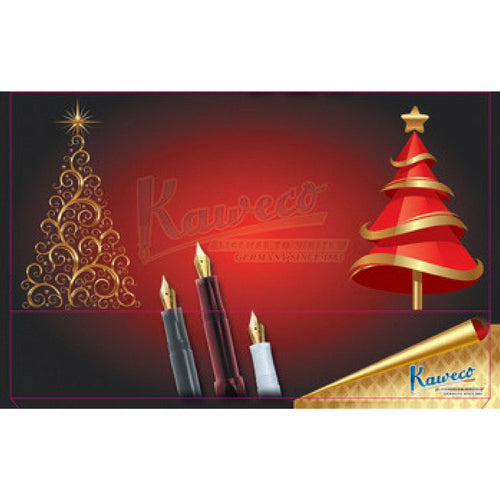 "Kaweco Tin Slipcase Cover - ""Christmas Tree"" - Long"