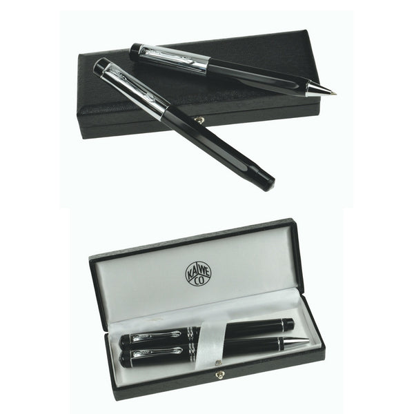 Kaweco DIA 2 Ballpoint Pen - Black (Chrome Trim)