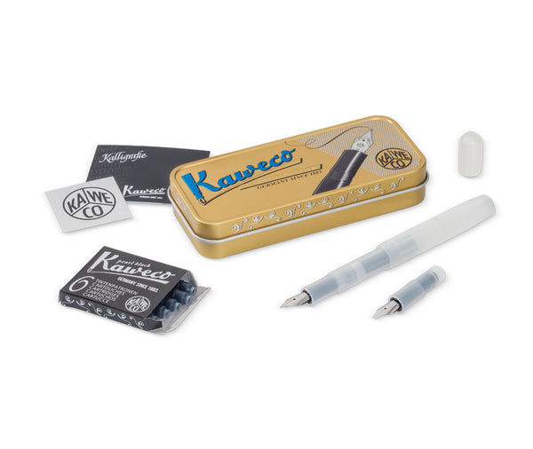 Kaweco Frosted Sport Calligraphy Mini Set - Natural Coconut