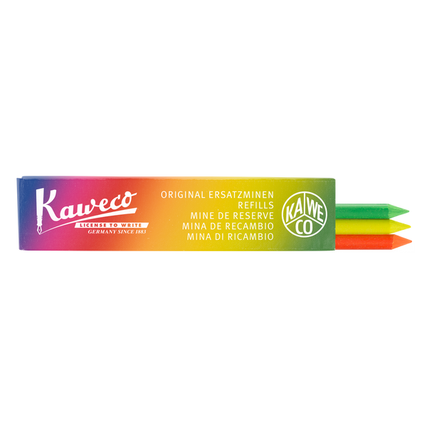Kaweco Pencil Leads 5.6mm x 80mm - Highlighter Mix - Green, Orange & Yellow (3 pack)