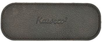 Kaweco Buffalo Leather Eco Pouch for 2 Sport Series Pens - Cognac Brown